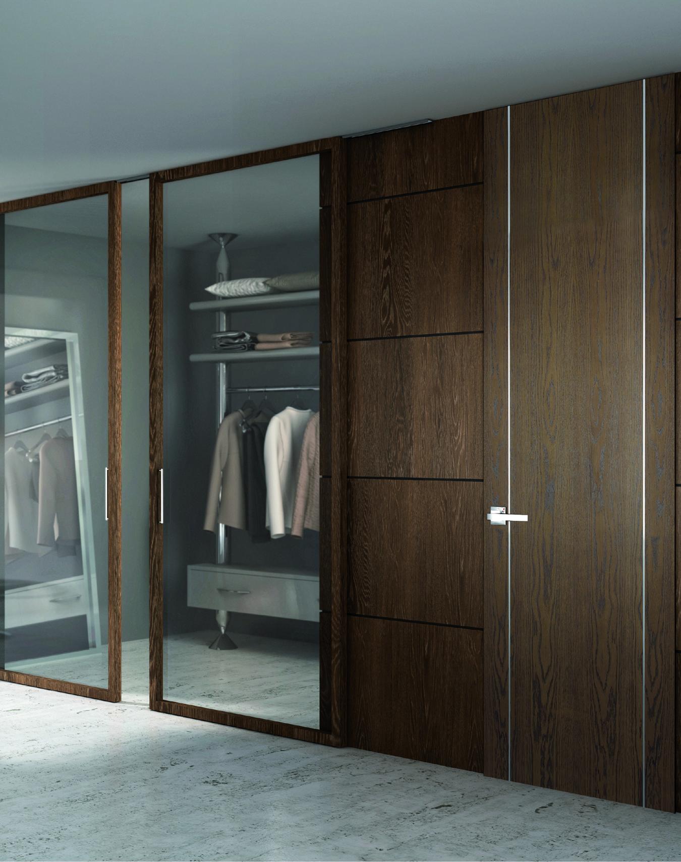 Armario vestidor y puertas modelo de Puertas Castalla - Carpintería en madera en Logroño