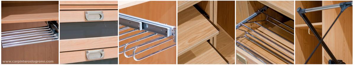 Complementos y accesorios para el interior de armario