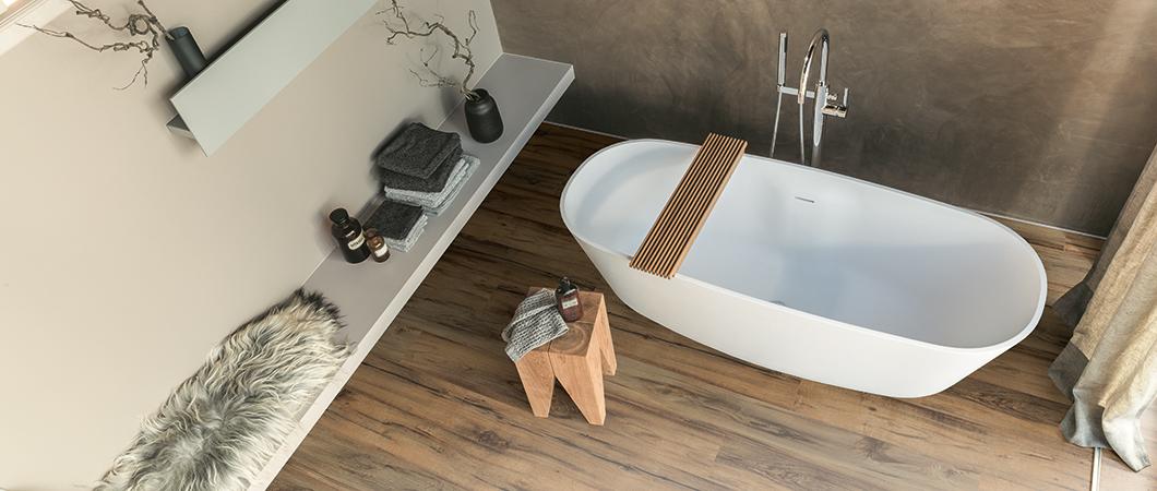 Suelo de madera laminada de Egger preparado para zonas húmedas